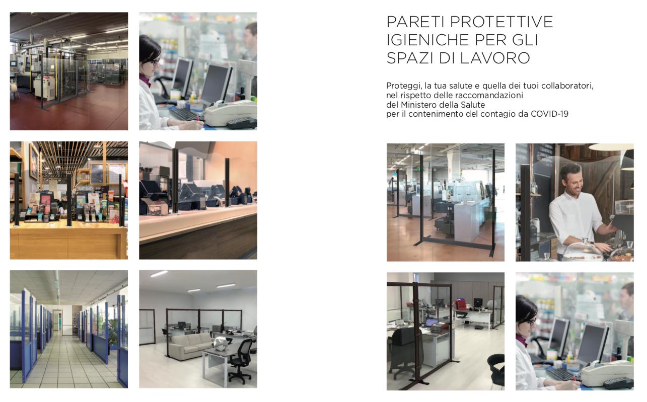 sistemi di protezione anti covid per ristoranti, bar, farmacie, supermercati, uffici, reception ecc... in vetro e in policarbonato